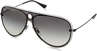 RB3605N Aviator Sunglasses, Black & White/Grey Gradient, 32 mm