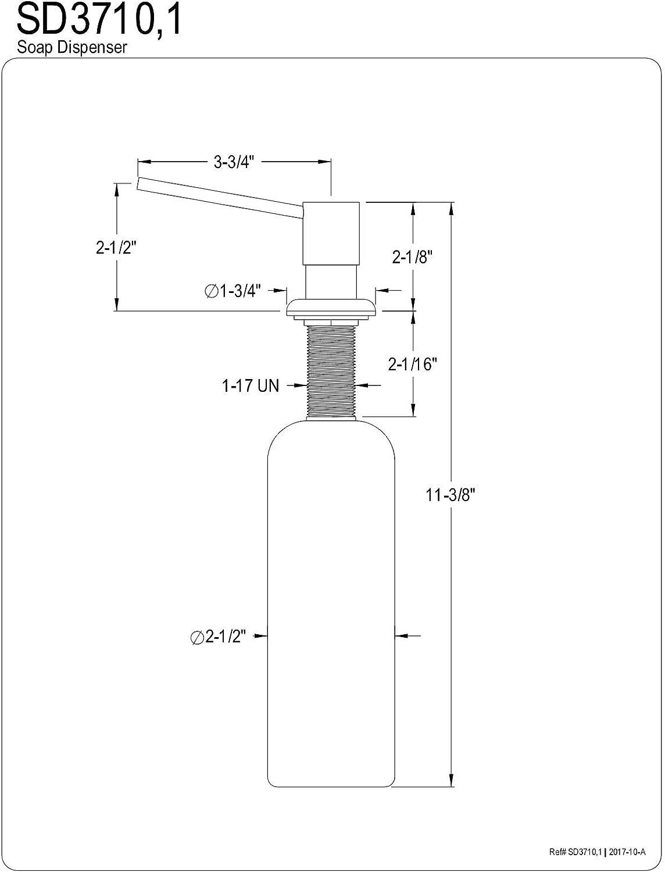 Kingston Brass Sd3711 Naples Soap Dispenser Polished Chrome