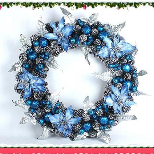 GYH Guirlande de Noël - Décorations de Noël Cadeaux de Noël Porte-Guirlande de Porte décorative (3 Tailles, 4 Options) /& (Couleur : B, Taille : 40CM)
