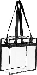 クリアPVCハンドバッグ Migavan PVCトイレタリーバッグファッションクリア透明PVCトイレットバッグトートバッグハンドバッグショルダーバッグハンドル付き