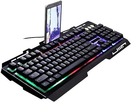 Teclado retroiluminado USB de la computadora, iluminación por ...