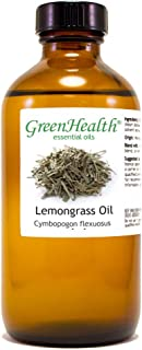GreenHealth Lemongrass – 8 fl oz (237 ml) Glass Bottle w/Cap – 100% Pure Essential Oil