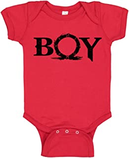 TeeINKS Boy God of War Fan Red Infant Bodysuit Onesie