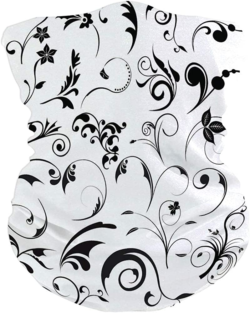 Floral Card IS036964 Motorcycle Face Scarf for Women Men Face Scarf