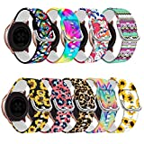 Compatible for Samsung Active 2 Watch Band 44mm 40mm/Galaxy Watch 3 41mmBand/Galaxy 2 Smart Watch Bands for Women,Silicone Watch Band 20mm for Samsung Galaxy Watch Active 2 Band/Galaxy Watch 42mm Band