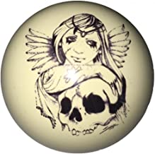 D&L Billiards Angel with Skull Cue Ball for Pool Players Custom