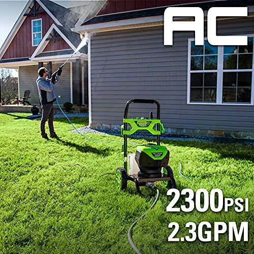 Greenworks Pro 2300 Max PSI @ 2.3 GPM (14 Amp) Brushless Electric Pressure Washer GW2300 - greenworks pressure washer gfci tripping