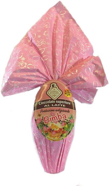 Uovo di pasqua bimba | cioccolato superiore al latte artigianale g 450 | la fabbrica di cioccolato B0865WY129