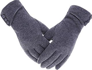 Tomily Womens Touch Screen Phone Fleece Windproof Gloves Winter Warm Wear