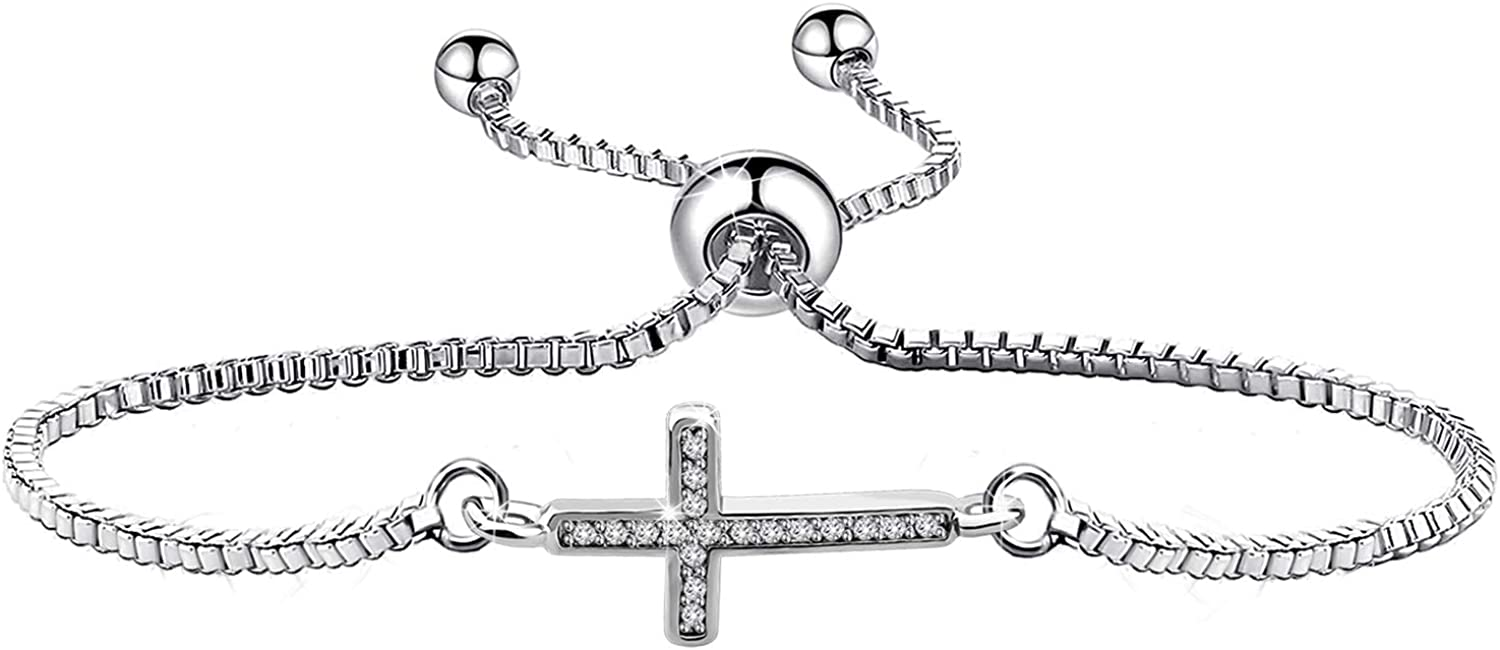 WUSUANED Christian Super special price Cross Adjustable Religiou Chain Link Max 83% OFF Bracelet