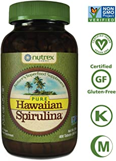 Pure Hawaiian Spirulina-500mg Tablets 400ct - Better than Organic - Vegan, Non-GMO, Non-Irradiated - 100% Hawaii Grown - Superfood Supplement & Natural Multivitamin