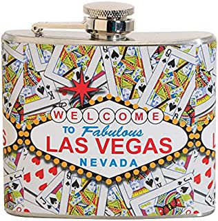 Welcome to Las Vegas 5 oz. Stainless Steel Flask