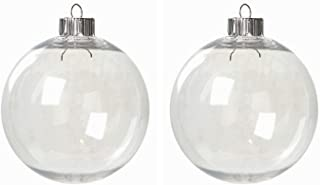 Darice Case of 32 Clear Plastic Round Ball Ornaments