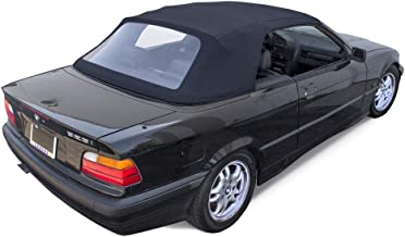 Fits: BMW 3-series Convertible Top 1994-99 E36 in Blue Twill with Plastic Window