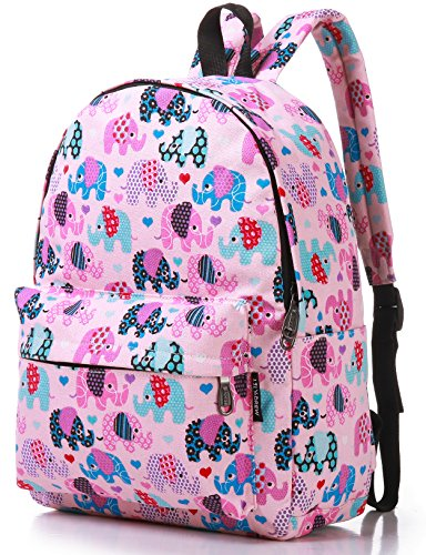 Canvas Travel Backpack for Women and Teens (Cat Blue Medium)