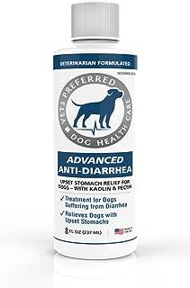 Vets Preferred Advanced Anti Diarrhea Liquid | Veterinarian-Grade Anti Diarrhea Dogs Solution | Fast Relief for Dog Diarrhea, Upset Stomach, Cramping, and Discomfort with Kaolin and Pectin (8 oz.)