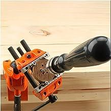 ZXC 5 * bits de perforación 1.5/2 / 3/4 / 5mm 1 * Clave de Mandril 0.6-6mm 1 * Pin de Taladro de Mano Juego de Vise Ajuste para Accesorios de carpintería de Bricolaje de precisión