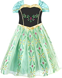 Generic Snow Queen Dress Princess Girls Dress Kids Costume Kids Dress