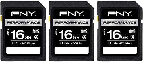 PNY 16GB Performance Class 4 SDHC Flash Memory Card...