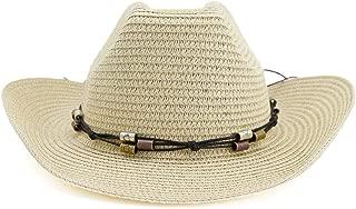 Sun Hat for men and women Men Women Western Cowboy National Wind Couple Straw Hat Outdoor Beach Travel Hat Fashion Solid Color Gentleman Hat Sun Hat Beach Hat