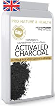 Activated Charcoal 300mg x 120 Capsules Coconut Derived Eliminate Unwanted Toxins Faster Supports Digestive Function Promotes Healthy Looking Skin Manufactured in The UK Estimated Price : £ 13,97
