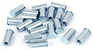 Aexit M6 x Nails, Screws & Fasteners 20mm Full Thread Hex Head Clinch Stud Self Clinching Blind Nut & Bolt Sets Standoff 20PCS