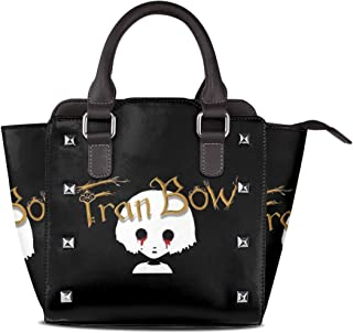 ClassicLoveU Luxury Leather Rivet Shoulder Bag Tote Satchel Bags With Markiplier Fran Bow