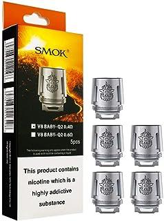 SMOK TFV8 V8 Baby Q2 0.4 ohm Bobinas de repuesto para TFV8 Baby Tank Cigarrillo electrónico Tank and Banda Vape Extra Sin Tabaco - Sin Nicotina