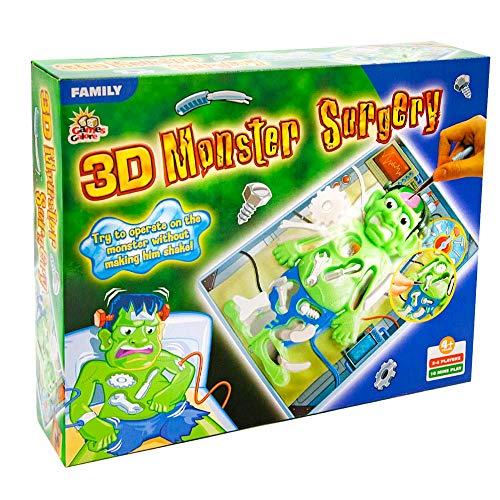 Jawoll 3D Monster Operation Brettspiel Kinderspiel Doktor Gesellschaftsspiel Arzt