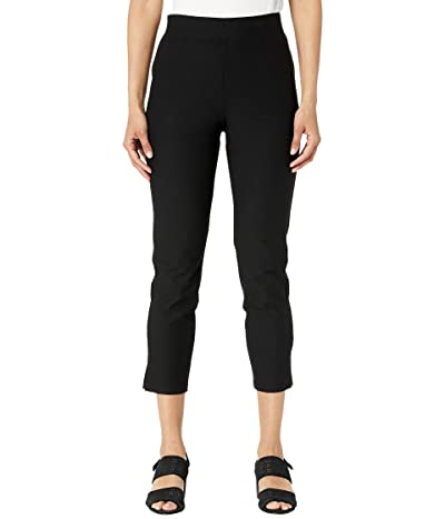 Eileen Fisher High-Waisted Slim Cropped Pants with Side Slits in Washable Stretch Crepe