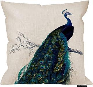 amazon com peacock pillow home kitchen