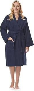 Arus Women's Short Kimono Lightweight Bathrobe Turkish Cotton Terry Cloth Robe