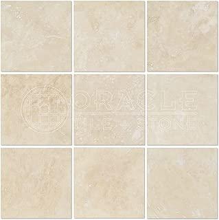 Ivory (Light) Travertine 4 X 4 Field Tile, Filled & Honed
