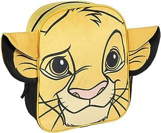 Mochila Infantil Rey Leon de Simba con Aplicaciones de Color Amarillo-Licencia Oficial Disney Studios Unisex niños, Multicolor, 230X280X90MM