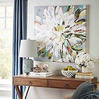 UAC WALL ARTS Natural Flower Canvas Wall Art 100% Hand Painted Contemporary Abstract Flower Oil Painting on Canvas Wall Art Decorative Artwork Framed Ready to Hang for Home Decoration