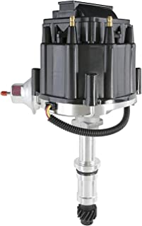 A-Team Performance HEI Distributor 65K Volt Coil Compatible with Buick Odd Fire Engine V6 One-Wire Installation Black Cap