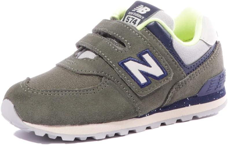New Balance IV574 HG Verde Blu Lime Scarpe Bambino Strappi Sneakers