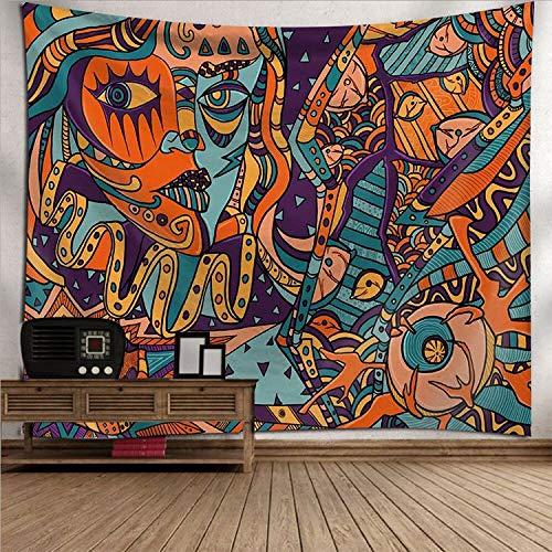 PPOU Mandala Fondo de Gran tamaño Fondo de Tela decoración de la Pared Tapiz decoración del hogar Tapiz Mural Toalla de Playa Vista de la Ventana A18 73x95cm