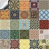 Tile Style Decals 24 stück Fliesenaufkleber für Küche und Bad