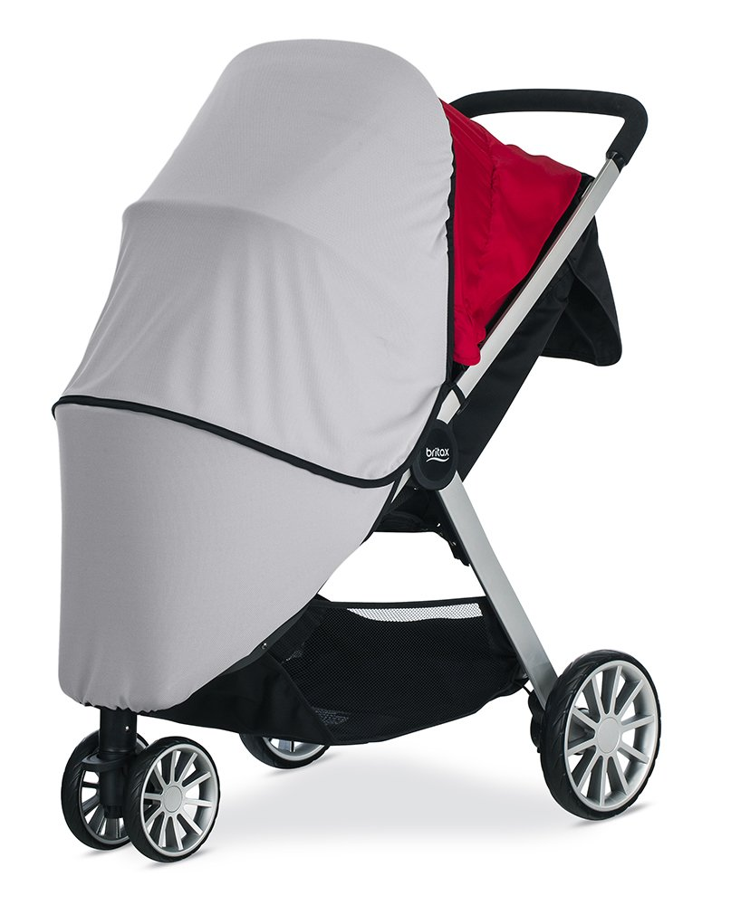 Britax B-Lively Stroller UPF 50+ Sun and Bug Cover   Full Ventilation Netting + Encloses Front and Sides of Stroller