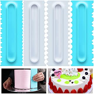 4pcs Plastic Sawtooth Cake Scraper Set Decorating Comb Icing Smoother Tool (4)