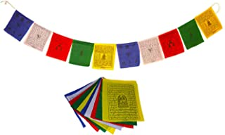 Juccini Small Tibetan Tranquil Wind Horse Lungta Prayer Flags Flags (Small-Pack of 50(6