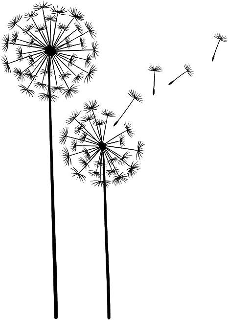 Pusteblume Lowenzahn Mit Pollen Samen Schwarz 14