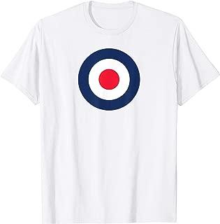 Bullseye Target Ring Pop Art British Flag UK MOD Tee Shirt