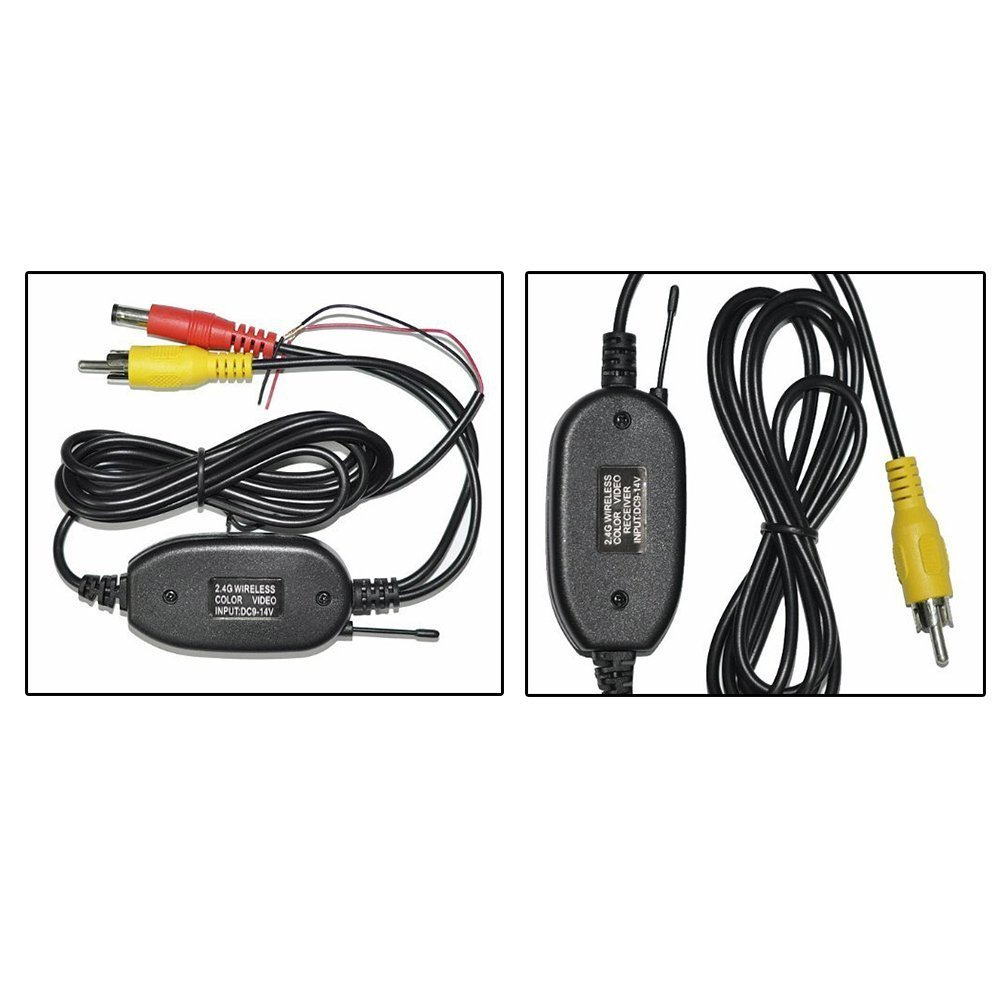 Beastron 2.4GHz Wireless Video Transmitter and Receiver for Vehicle Backup Camera/Front Car Camera