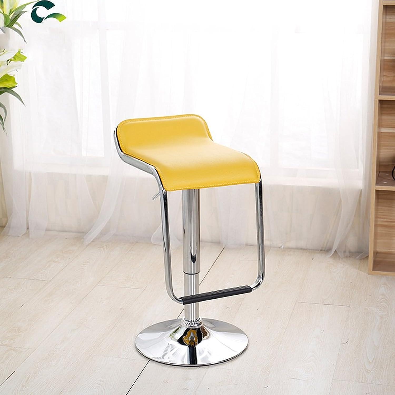 ZPWSNH Bar Chair Lift Front Bar Chair European redating Bar Stool Cash Register Chair Family High Chair Bar Stool (color   Yellow)