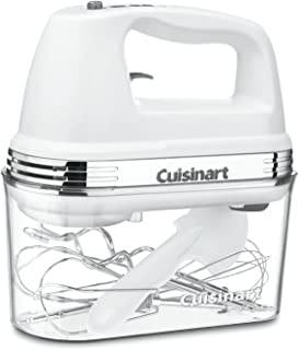Cuisinart HM-90S Power Advantage Plus 9-Speed Handheld Mixer with Storage Case, White