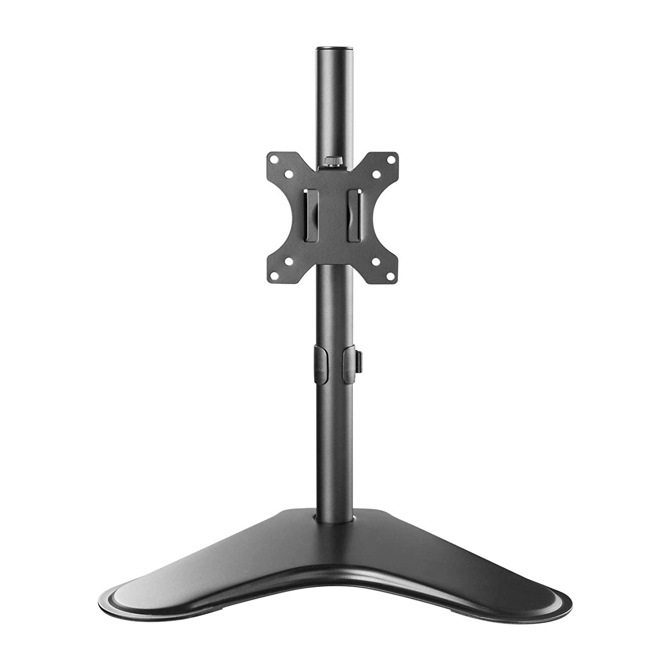 "WALI Free Standing Single LCD Monitor Fully Adjustable Desk Mount Fits One Screen up to 32"", 17.6 lbs. Weight Capacity (MF001), Black"
