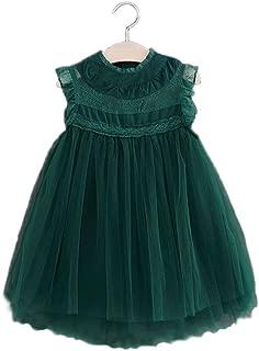 Girls Multi-Layer Tulle Lace Dress Princess Wedding Birthday Party Tutu Dress