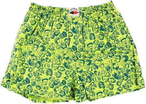 Cleptomanicx Boxershorts GERMANY PEOPLE green, XS